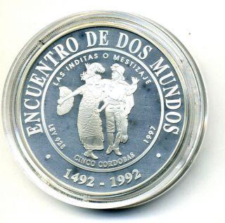 Nicaragua 5 Cordobas 1997 Km 96 Proof photo