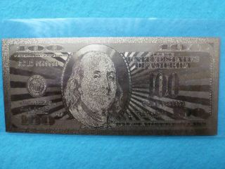 100 Dollars Bill 24 K.  - Gold - photo