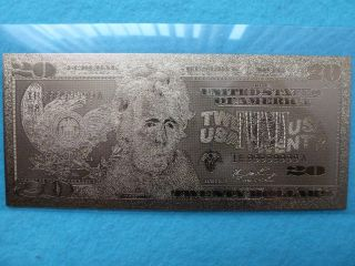 20 - Dollars - 24 K.  Gold. photo
