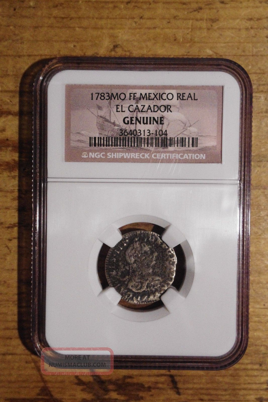 El Cazador 1783 1 Real Ngc Certified Silver Shipwreck Coin Good Detail Spain Europe photo