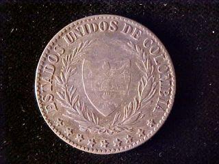 Colombia Km149.  1a,  2 Decimos 1867 photo