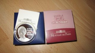 France 20 Euros Silver Piedfort Institut Marie Curie Be Proof Pp 2009 photo
