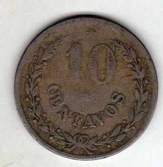 Colombia,  Leprosarium Leper Colony 10 Centavos 1921