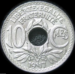 France 1917 10 Centime Coin - Great Coin - S&h Discounts photo