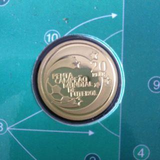 Brazil Gold Coin 2002 Comemorative Fifth World Championship Fifa Korea Japan photo