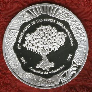 Argentina Silver Coin Ix Ibero - American Series 20 Anniversary 25 Pesos 2012 photo