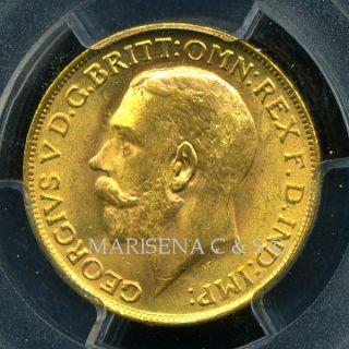 1927 Sa S.  Africa G V Gold Coin Sovereign Pcgs Cert.  Ms 63 Spectacular photo