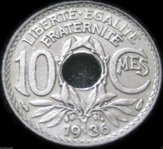 France 1936 10 Centime Coin - Great Coin - S&h Discounts photo