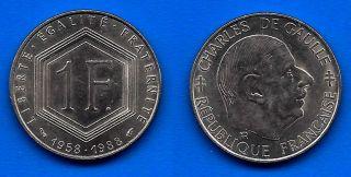 France 1 Franc 1988 Charles De Gaulle Worldwide Francs Ppal Skrill photo