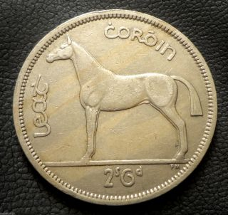 Ireland,  1964 ½ Coróin / 2 Scilling 6 Pingin Hunter Horse Coin photo