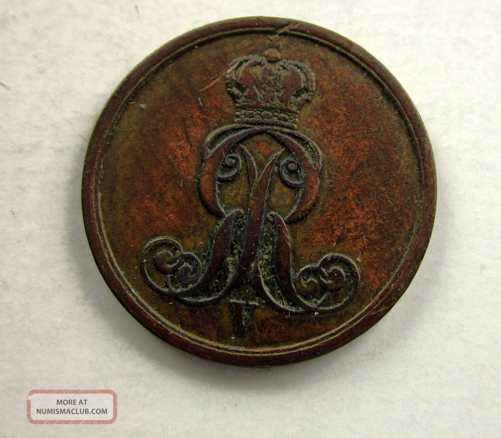 German States Hannover Copper Pfennig 1853 Germany photo
