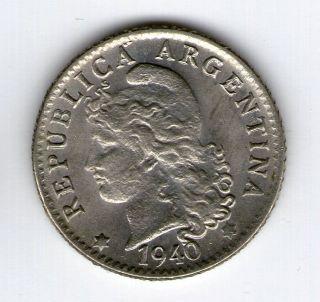 Argentina,  Republic.  5 Centavos Coin 1940 - Au Km 34 photo
