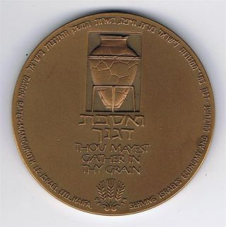 Israel 1980 Dagon Silo - Haifa Port Award Medal 59mm 98g Tombac photo