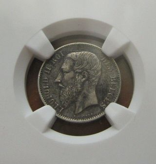 Belgium 50 Centimes 1898 Silver