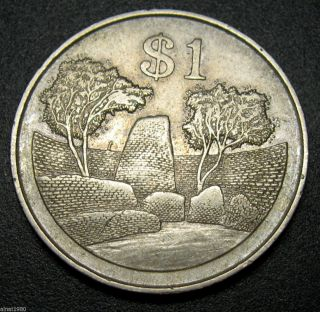 Zimbabwe 1 Dollar Coin 1980 Km 6 Bird photo