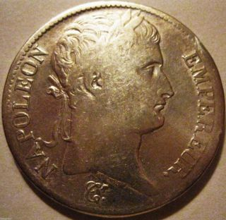 France - 1808 - A 5 Francs Napoleon Bonaparte photo