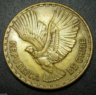 Chile 10 Centesimos Coin 1964 Km 191 Condor In Flight photo
