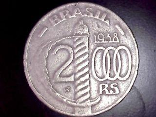 Brazil 2000 Reis 1938 Km 542 photo