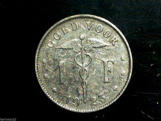 1923 Belgium 1 Franc photo