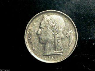 1951 Belgium 1 Franc photo