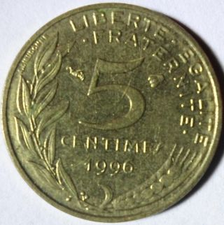 C70 Coin 5 Centimes 1996 France photo