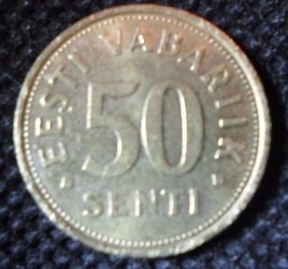C66 Coin 50 Senti 2004 Estonia photo