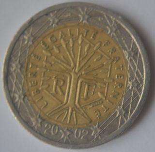 2002 France 2 Euro Very Very Rare Fr1 photo