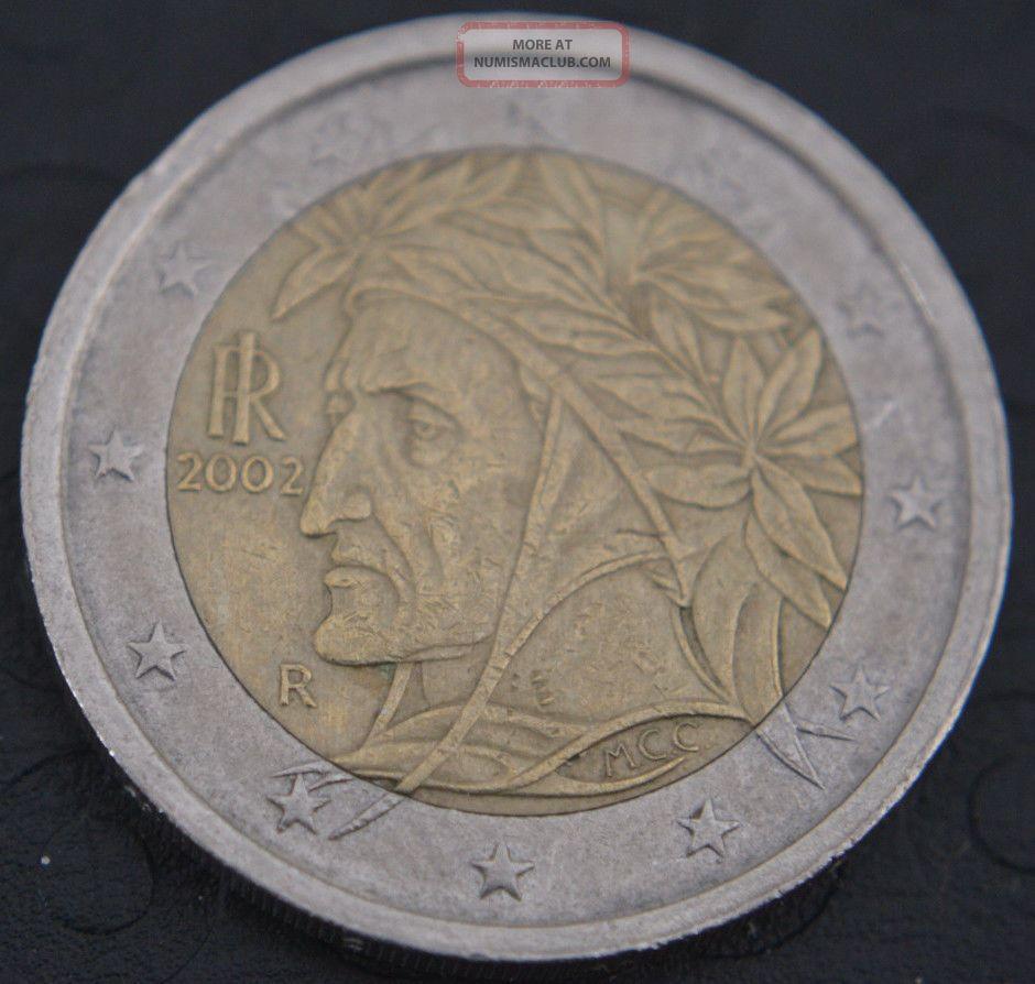 2002 Italy 2 Euro Coin Rare It1 Italy, San Marino, Vatican photo