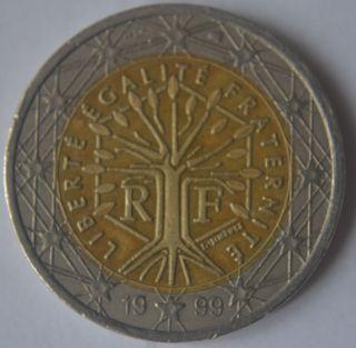 1999 France 2 Euro Very Very Rare 3 photo