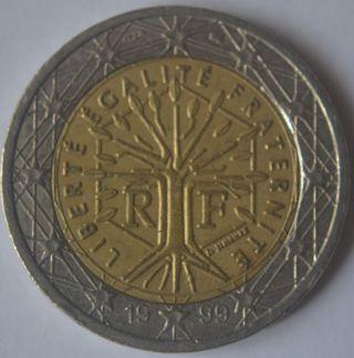 1999 France 2 Euro Very Very Rare 2 photo