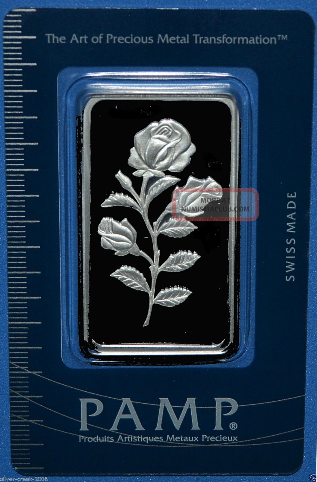 Pamp Suisse Rosa 1 Oz 999 0 Pure Silver Bar Certified In
