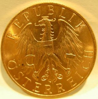 Austria 1926 Gold 25 Schilling Unc photo