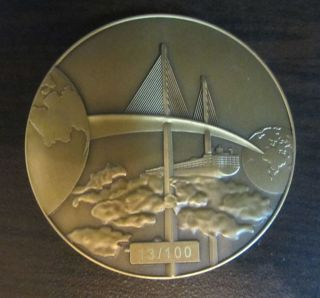 Panama Canal Bond And Michelangelo ' S Image Bronze Medal (2011) photo