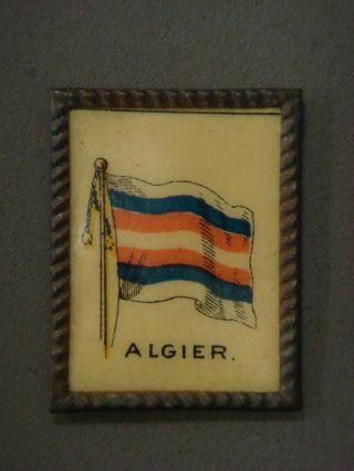Mini Framed Picture - Algier (flag) Java Coffee,  C.  F.  Ware Coffee Co.  Dayton,  O. photo