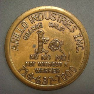 Anillo Industries Inc.  No No No Not Without A Washer,  Jul.  1969 Calendar photo