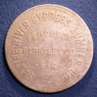 R10 South Carolina Lumber Token - Santee River Cypress Lumber,  $1,  Ferguson,  Sc photo