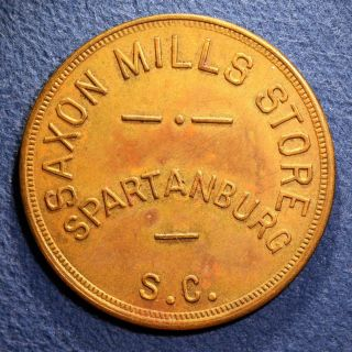 South Carolina Mill Token - Saxon Mills Store,  $1.  00,  Spartanburg,  S.  C. photo