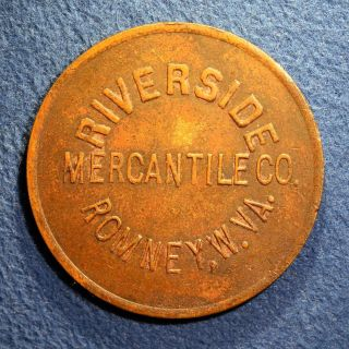 R9 West Virginia Coal Scrip Token - Riverside Merc.  Co. ,  50¢,  Romney,  W.  Va. photo