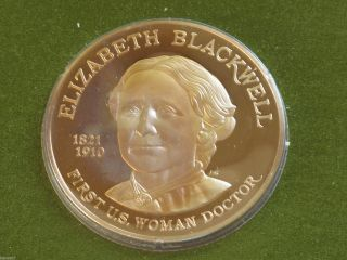 Amwa Elizabeth Blackwell Solid Bronze Medal Franklin D6310 photo