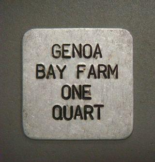 Genoa Bay Farm,  One Quart photo