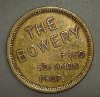 The Bowrey,  Fred Solomon Prop.  Good For One Bowrey Special Feed (los Angeles,  Ca) photo