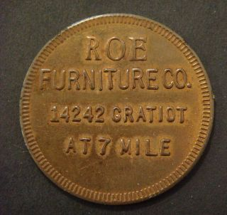 Roe Furniture Co.  (detroit,  Mi. ) Good For $5 On Purchase Of $50 Or More photo
