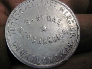 Good For 25c In Trade Token Courtland Kansas Coin Tucker Elliott Mercantile photo
