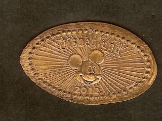 Disney Retired Disneyland 2012 Coin Of Year Mickey Rays Pressed Elongated Penny photo