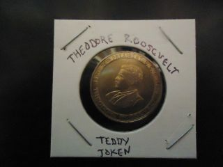 Theodore Roosevelt Presidential  Teddy  Token photo