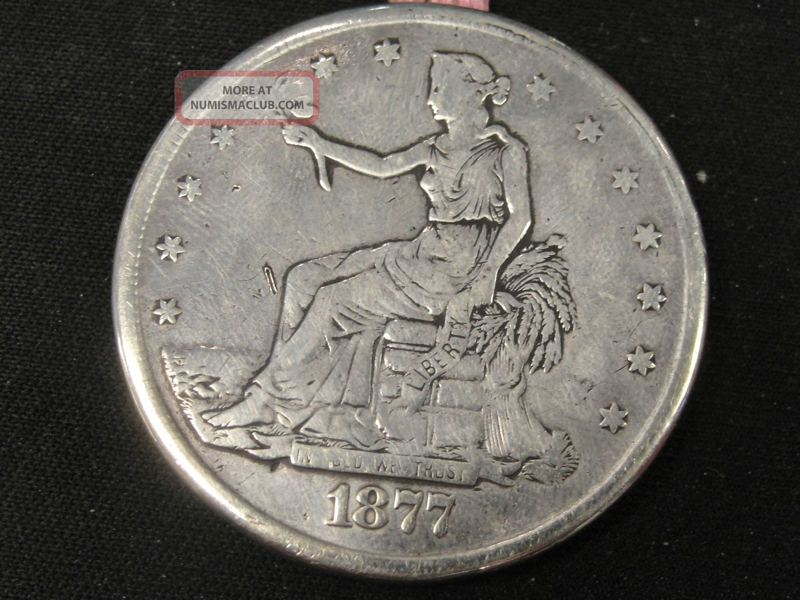 1877 Rare Trade Silver Dollar Opium Dollar Quot Love Token