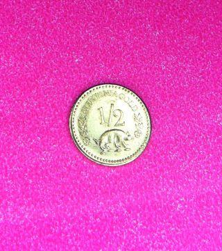 1858 California Fractional Gold Round Token Coin