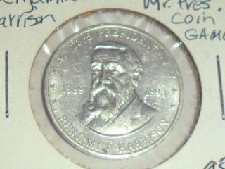 Benjamin Harrison Shell Mr.  President Al Coin Ch Xf,  Ships $2.  09 Usa W/del Con. photo
