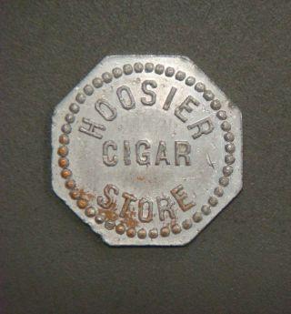 Hoosier Cigar Store,  Good For 1¼¢ In Merchandise photo