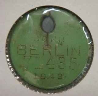 Dog License - 1943 Berlin,  Conn. photo